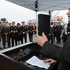 Middleton:<br /> Lt. Governor Timothy Murray speaks at the Essex County Regional Emergency Communications Center ground breaking ceremony.<br /> Photo by Ken Yuszkus/Salem News, Tuesday, October 4, 2011.