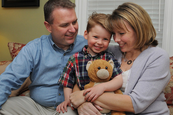 Beverly:<br /> Kim and Lance Lang of Beverly with their son Jackson. Jackson was adopted. He is from Russia.  Kim and Lance are hoping to adopt two more boys from Russia. The recent controversy surrounding Russian adoption has made their adoption tenuous. <br /> Photo by Ken Yuszkus/Salem News, Saturday, April 17, 2010.