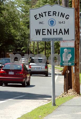 Wenham:<br /> Entering Wenham from Hamilton on Route 1a.<br /> Photo by Ken Yuszkus/Salem News, Monday, July 13, 2009.