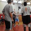 Beverly:<br /> The Beverly boys high school basketball team practice at Memorial Middle School, which is the replacement practice court while the school construction continues.<br /> Photo by Ken Yuszkus/Salem News, Thursday,  December 9, 2010.