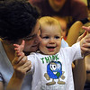 Salem:<br /> Lori Schilsson and her son Reed, 9 1/2 months,  participate in the Play With Me program at the Salem Public Library in the children's room. <br /> Photo by Ken Yuszkus/Salem News, Wednesday, July 13, 2011.