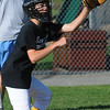 Beverly:<br /> Catcher Luke Samperi of Beverly West Little League,   during practice at Vittori Park.<br /> Photo by Ken Yuszkus/Salem News, Monday, June 27, 2011.