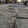 Salem:<br /> People walk near the uneven cobblestones at the Essex Street pedestrian mall in Salem. The city is considering some changes to the Essex Street pedestrian mall, including removing the uneven cobblestones and the fountain at Essex and Washington Streets<br /> Photo by Ken Yuszkus/Salem News, Wednesday, April 4, 2012.
