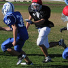 Danvers:<br /> Pat McBride at the Danvers High School football practice. The Danvers football team is getting ready for the upcoming Danvers-Beverly game Friday night,<br /> Photo by Ken Yuszkus/Salem News, Wednesday,  October 13, 2010.