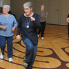 Beverly:<br /> From left, Jane Frechette, Deb Aldrich, Donna Scanlon, and Kendra Bethune participate in the Zumba class at the Beverly Council on Aging on Thursday. Also participating in the class are Shirley Spiridigliozzi, Marie Campello, and instructor Donna Morreall.<br /> Photo by Ken Yuszkus/Salem News, Thursday, January 12, 2012.