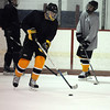 Peabody:<br /> Bishop Fenwick's Bret Kidik at practice at McVann-O'Keefe Rink.<br /> Photo by Ken Yuszkus/Salem,  News, Tuesday,  December 21, 2010.