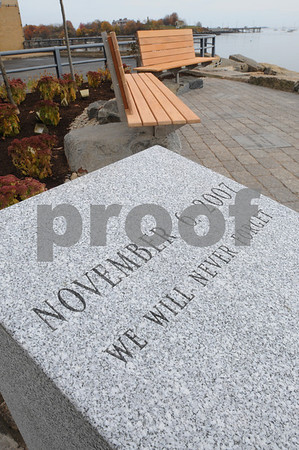 Salem;<br /> The memorial that was built at the Salem power plant which is a rememberance for the three workers killed at the power plant one year ago.<br /> Photo by Ken Yuszkus/Salem News, Wednesday, November 5, 2008.