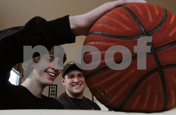 Danvers:<br /> Matt Chesley, left, and  Mark Arnoldy, are two of some of the organizers of the JAM'D basketball tournament scheduled this saturday July 11.<br /> Photo by Ken Yuszkus/Salem News, Thursday, July 2, 2009.