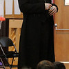"Danvers:<br /> Casey Preston is an actor portraying Abraham Lincoln during his presentation, ""Abraham Lincoln: American President"", at the Highlands Elementary School.<br /> Photo by Ken Yuszkus/Salem News, Tuesday, February 2, 2010."