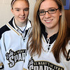 Lynn:<br /> Alison Butler of Danvers, left, and Courtney Winters of Swampscott, are part of the St. Mary's High School girl's hockey team.<br /> Photo by Ken Yuszkus/Salem News, Wednesday, March 17, 2010.
