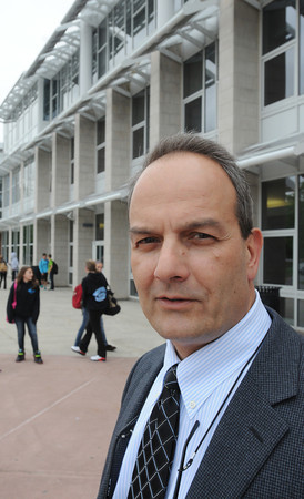 Danvers:<br /> Principal Michael Cali is retiring from the Holten Richmond Middle School.<br /> Photo by Ken Yuszkus/Salem News, Tuesday, June 5, 2012.