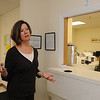 Peabody:<br /> Jayne Wilson, program director, speaks in front of the dispensing windows at Community Substance Abuse Center in Peabody.<br /> Photo by Ken Yuszkus/Salem News, Wednesday, June 9, 2010.