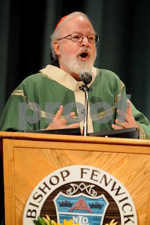 Peabody:<br /> Cardinal Sean OÕMalley, Archbishop of Boston, speaks at the 50th Anniversary Liturgy at Bishop Fenwick High School.<br /> Photo by Ken Yuszkus/Salem News, Sunday, September 13, 2009.