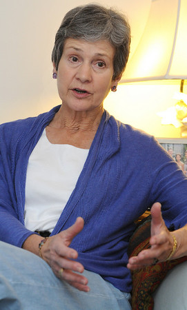 Hamilton:<br /> Barbara Kent Lawrence has written a book about her husband's anorexia, belemia and alcoholism, and the struggles she faced with his disorders. <br /> Photo by Ken Yuszkus/Salem News, Thursday, March 10, 2011.
