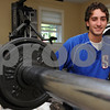Swampscott:<br /> John Pelletier of Swampscott, who had a terrific senior season at Swampscott High and was a Northeastern Conference allstar. He is in his weight room at his home.<br /> Photo by Ken Yuszkus/Salem News, Monday, July 6, 2009.