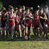 Hamilton:<br /> The start of the Masconomet vs Newburyport boys cross country race at Bradley Palmer Stae Park.<br /> Photo by Ken Yuszkus/Salem News, Thursday, October 20, 2011.