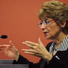 Salem:<br /> Barbara Anthony, the undersecretary of consumer affairs and business regulation, speaks at the Health-Care Cost Containment Discussion at the Enterprise Center at Salem State University.<br /> Photo by Ken Yuszkus/Salem News, Friday, May 13, 2011.