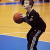 Danvers:<br /> Zachary Oliver, 6, of Gloucester, shoots a basket during half time at the Gloucester High School at Danvers High School girls basketball game.<br /> Photo by Ken Yuszkus/Salem News, Tuesday, January 4, 2011.