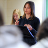 Wenham:<br /> Sophie Southwik is one of the eleven Landmark School student advocates to present their ideas about what it is like to live with a learning disability to students at Gordon College . <br /> Photo by Ken Yuszkus/Salem News, Thursday, April 12, 2012.