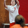 Beverly:<br /> Ashley Chalifour shoots a basket during the Beverly High girls basketball practice at Memorial School gymnasium.<br /> Photo by Ken Yuszkus/Salem News, Thursday, January 13, 2011.