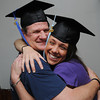 Peabody:<br /> Greg Shidler and his daughter Kaitlyn Shidler are both graduating from Salem State on Saturday with honors.<br /> Photo by Ken Yuszkus/Salem News, Wednesday, May 16, 2012.