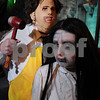 Salem:<br /> Holly and Ryan Travis met years ago at Spooky World and share a unique bond, relishing the chance to scare the hell out of people. <br /> Photo by Ken Yuszkus/Salem News, Tuesday October 21, 2009.
