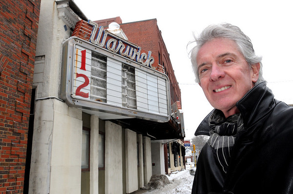 Marblehead:<br /> Michael McCloskey, architect, is behind a plan to put a movie theater in the building replacing the Warwick Theater.<br /> Photo by Ken Yuszkus/Salem News, Tuesday, January 25, 2011.