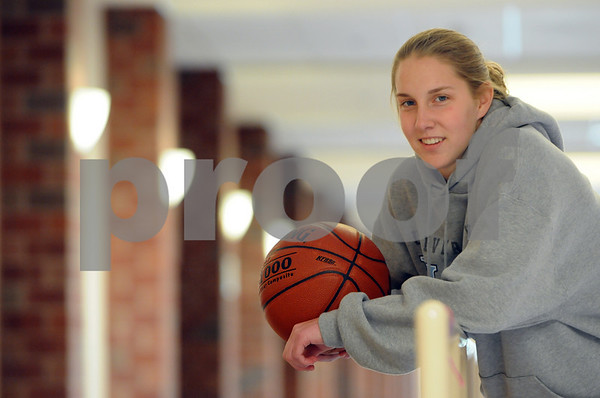 Ipswich:<br /> Ipswich basketball standout Amber Smith, at the Ipswich High School. She accepted a scholarship offer from Division 1 University of Maine.<br /> Photo by Ken Yuszkus/Salem News, Tuesday September 23, 2008.