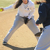 Danvers:<br /> Janelle Saggese warms up during the Danvers High softball practice at Great Oak School field.<br /> Photo by Ken Yuszkus/Salem News, Monday, March 28, 2011.