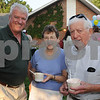Beverly:<br /> Fom left, Steve Davidson, Sheila Bushey, and Ed Bushy, at the Rep. Mary Grant Annual Homecoming Ice Cream Social at the Church in the Cove which is a fundraiser for  Beverly Homecoming.<br /> Photo by Ken Yuszkus/Salem News, Monday, August 3, 2009.