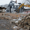 Beverly:<br /> Demolition of the Mayflower motel at 325 Cabot Street.<br /> Photo by Ken Yuszkus/Salem News, Tuesday, January 5, 2010