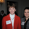 Beverly:<br /> From left, Maureen Larivee and Gabrielle Piasio, both of Danvers Bank, attend the Beverly Chamber of Commerce breakfast held at Tupper Manor on Friday morning.<br /> Photo by Ken Yuszkus/Salem News, Friday, January 14, 2011.