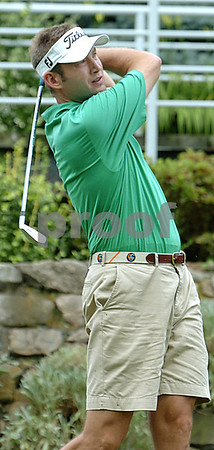 Marblehead:<br /> Mike Zemetrovich tees off the third tee at Tedesco Country Club during the Tedesco Country Club men's golf championship.<br /> Photo by Ken Yuszkus/Salem News, Sunday, July 12, 2009.