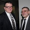 Beverly:<br /> John Keilty, left, attorney in Peabody, and Christopher Mello, of Eastern Land Survey in Peabody, attend the North Shore Alliance for Economic Development's winter quarterly meeting in the Cummings Center Community Conference Room.<br /> Photo by Ken Yuszkus/Salem News, Thursday, January 21, 2010.