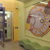 Peabody:<br /> The large piece of art in the lobby by Xenobia Bailey which is part of the collection of artwork exhibited at Boston Children's North Hospital in Peabody.<br /> Photo by Ken Yuszkus/Salem News, Thursday, February 24, 2011.