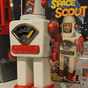 Wenham:<br /> Space scout is one of the toys in a display case featuring robots at the new exhibit at the Wenham Museum.<br /> Photo by Ken Yuszkus/Salem News, Thursday, June 16, 2011.