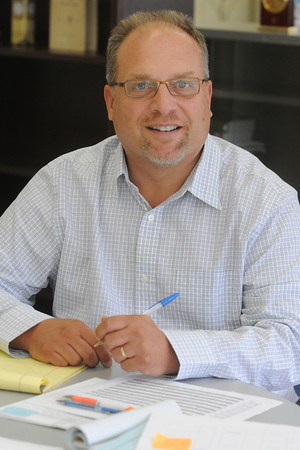 Peabody:<br /> Joseph Mastrocola is the new Peabody school superintendent.<br /> Photo by Ken Yuszkus/Salem News, Thursday, July 19,  2012.