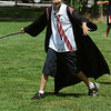 Beverly:<br /> Joshua Millen, dressed as Harry Potter, participates in a game called Inferi Tag during the Harry Potter summer playground event at Lynch Park on Thursday.<br /> Photo by Ken Yuszkus/Salem News, Thurssday, July 14, 2011.