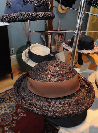 Peabody:<br /> A hat from 1920's to 1940s which was part of the Hats Off to History and Art exhibit.<br /> Photo by Ken Yuszkus/Salem News, Thursday, July 7, 2011.