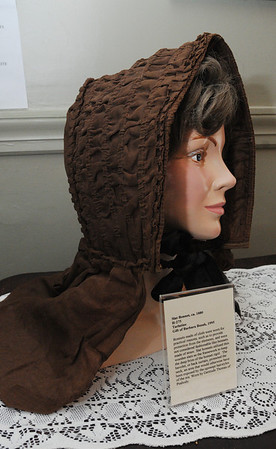 Peabody:<br /> This is a slat bonnet from the 1880s, which is part of the Hats Off to History and Art exhibit.<br /> Photo by Ken Yuszkus/Salem News, Thursday, July 7, 2011.