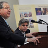 Beverly:<br /> House Speaker Robert DeLeo speaks at the North Shore Alliance for Economic Development's winter quarterly meeting in the Cummings Center Community Conference Room.<br /> Photo by Ken Yuszkus/Salem News, Thursday, January 21, 2010.