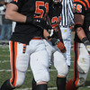 Beverly:<br /> Alex Ego, number 51, is playing in the Thanksgiving Salem at Beverly football game at Hurd Stadium.<br /> Photo by Ken Yuszkus/Salem News, Thursday, November 25, 2010.