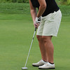 "Danvers:<br /> Kim Mahoney successfully drops the ball into the 18th hole with her putt during Boston Bruins player Shawn Thornton's annual ""Putts and Punches for Parkinson's"" charity golf fundraiser.<br /> Photo by Ken Yuszkus/Salem News, Monday, August 8, 2011."