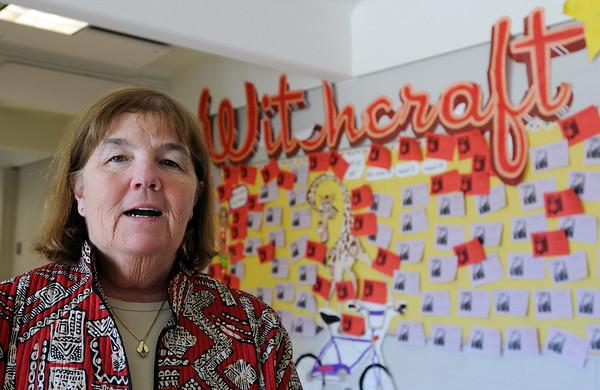 Salem:<br /> Joyce Harrington, president of Salem teachers union, who teaches reading at the Witchcraft Heights School.<br /> Photo by Ken Yuszkus/Salem News, Thursday, April 15, 2010.