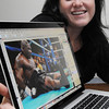 "Beverly:<br /> Emily Harney, photographer whose photos appeared in the movie ""The Fighter"" shows her photo of Mike Tyson taken in 2004.<br /> Photo by Ken Yuszkus/Salem News, Thursday, January 6, 2011."