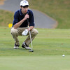 Beverly:<br /> Colin Kenny of Hamilton-Wenham High School, studies his shot on the 18th hole at Beverly Golf & Tennis Club during the Division 3 state championship golf.<br /> Photo by Ken Yuszkus/Salem News, Monday,  October 25, 2010.