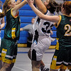 Peabody:<br /> Peabody's Brittany LeFave tries to shoot for the basket during the Peabody High girls basketball game vs. Lynn Classical at Peabody.<br /> Photo by Ken Yuszkus/Salem,  News, Tuesday,  December 14, 2010.