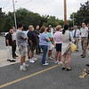 "Peabody:<br /> Stopping on their walk on Main Street in Peabody on Tuesday evening are planners who are looking for ways to improve the ""corridor"" from Peabody to Salem.<br /> Photo by Ken Yuszkus/Salem News, Tuesday August 17, 2010."