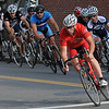 Beverly:<br /> The racers in the Mens 4/5 category take the corner onto Cabot Street during the Third annual Beverly Gran Prix cycling race.<br /> Photo by Ken Yuszkus/Salem News, Wednesday, August 3, 2011.