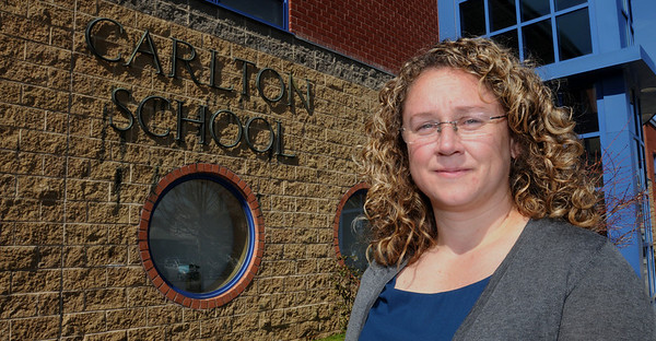 Salem:<br /> Jean-Marie Kahn, Carlton School principal, is in the process of turning the Carlton School into an Innovation School, which involves transforming the curriculum and doing away with grade levels. <br /> Photo by Ken Yuszkus/Salem News, Thursday, March 17, 2011.